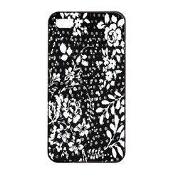 Vintage Black And White Flower Apple Iphone 4/4s Seamless Case (black) by Brittlevirginclothing