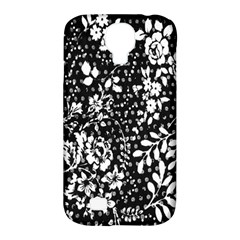 Vintage Black And White Flower Samsung Galaxy S4 Classic Hardshell Case (pc+silicone) by Brittlevirginclothing