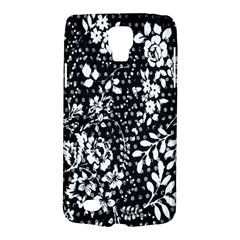Vintage Black And White Flower Galaxy S4 Active by Brittlevirginclothing
