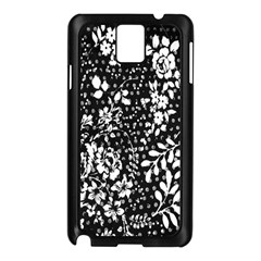 Vintage Black And White Flower Samsung Galaxy Note 3 N9005 Case (black) by Brittlevirginclothing