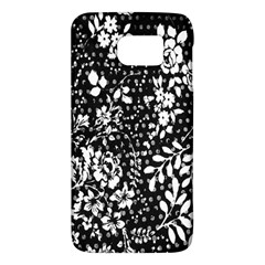 Vintage Black And White Flower Galaxy S6 by Brittlevirginclothing