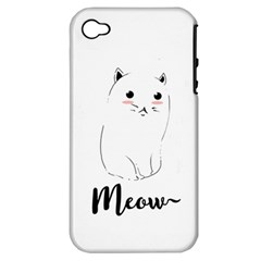 Cute Kitty  Apple Iphone 4/4s Hardshell Case (pc+silicone) by Brittlevirginclothing