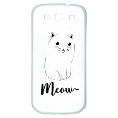 Cute Kitty  Samsung Galaxy S3 S Iii Classic Hardshell Back Case by Brittlevirginclothing