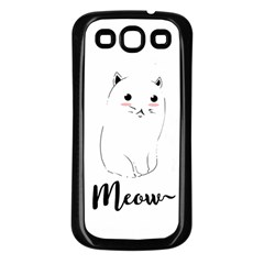 Cute Kitty  Samsung Galaxy S3 Back Case (black) by Brittlevirginclothing