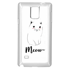 Cute Kitty  Samsung Galaxy Note 4 Case (white) by Brittlevirginclothing