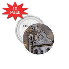 Exterior Facade Antique Colonial Church Olinda Brazil 1 75  Buttons (10 Pack) by dflcprints