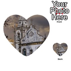 Exterior Facade Antique Colonial Church Olinda Brazil Multi Purpose Cards (heart)  by dflcprints