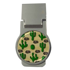 Cactuses Money Clips (round)  by Valentinaart