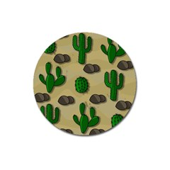 Cactuses Magnet 3  (round) by Valentinaart
