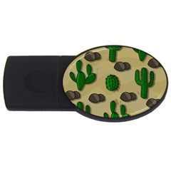Cactuses Usb Flash Drive Oval (2 Gb)  by Valentinaart