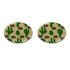 Cactuses Cufflinks (oval) by Valentinaart