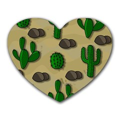 Cactuses Heart Mousepads by Valentinaart
