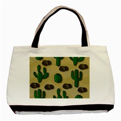 Cactuses Basic Tote Bag (two Sides) by Valentinaart