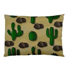 Cactuses Pillow Case (two Sides) by Valentinaart