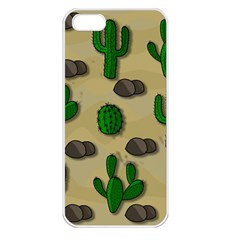 Cactuses Apple Iphone 5 Seamless Case (white) by Valentinaart