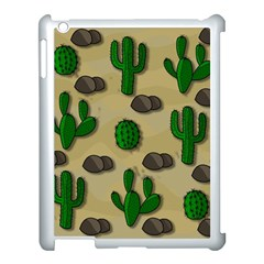 Cactuses Apple Ipad 3/4 Case (white) by Valentinaart