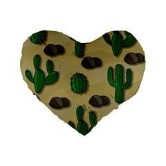 Cactuses Standard 16  Premium Heart Shape Cushions by Valentinaart