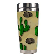 Cactuses Stainless Steel Travel Tumblers by Valentinaart