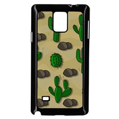 Cactuses Samsung Galaxy Note 4 Case (black) by Valentinaart