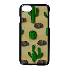 Cactuses Apple iPhone 7 Seamless Case (Black) by Valentinaart