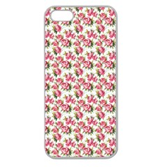 Gorgeous Pink Flower Pattern Apple Seamless Iphone 5 Case (clear) by Brittlevirginclothing