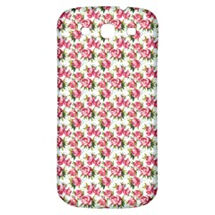 Gorgeous Pink Flower Pattern Samsung Galaxy S3 S Iii Classic Hardshell Back Case by Brittlevirginclothing