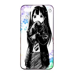 Shy Anime Girl Apple Iphone 4/4s Seamless Case (black) by Brittlevirginclothing