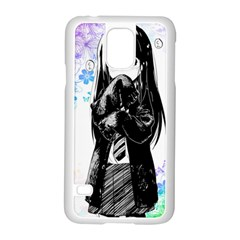 Shy Anime Girl Samsung Galaxy S5 Case (white) by Brittlevirginclothing