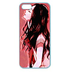 Day Dreaming Anime Girl Apple Seamless Iphone 5 Case (color) by Brittlevirginclothing