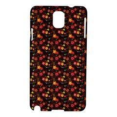 Exotic Colorful Flower Pattern  Samsung Galaxy Note 3 N9005 Hardshell Case by Brittlevirginclothing