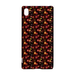 Exotic Colorful Flower Pattern  Sony Xperia Z3+ by Brittlevirginclothing