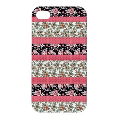 Cute Flower Pattern Apple Iphone 4/4s Premium Hardshell Case by Brittlevirginclothing