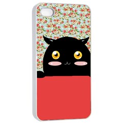 Cute Kitty Hiding Apple Iphone 4/4s Seamless Case (white) by Brittlevirginclothing
