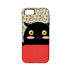 Cute Kitty Hiding Apple Iphone 5 Classic Hardshell Case (pc+silicone) by Brittlevirginclothing