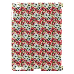 Gorgeous Red Flower Pattern  Apple Ipad 3/4 Hardshell Case (compatible With Smart Cover) by Brittlevirginclothing