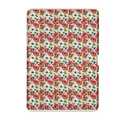 Gorgeous Red Flower Pattern  Samsung Galaxy Tab 2 (10 1 ) P5100 Hardshell Case  by Brittlevirginclothing