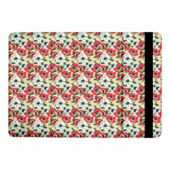 Gorgeous Red Flower Pattern  Samsung Galaxy Tab Pro 10 1  Flip Case by Brittlevirginclothing