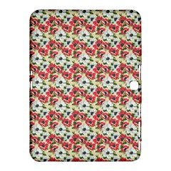 Gorgeous Red Flower Pattern  Samsung Galaxy Tab 4 (10 1 ) Hardshell Case  by Brittlevirginclothing