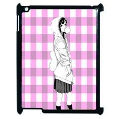 Cute Anime Girl  Apple Ipad 2 Case (black) by Brittlevirginclothing