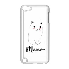 Cute Kitty  Apple Ipod Touch 5 Case (white) by Brittlevirginclothing