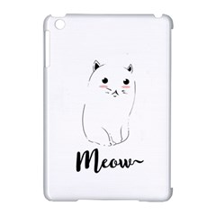 Cute Kitty  Apple Ipad Mini Hardshell Case (compatible With Smart Cover) by Brittlevirginclothing