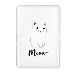 Cute Kitty  Samsung Galaxy Tab 2 (10 1 ) P5100 Hardshell Case  by Brittlevirginclothing