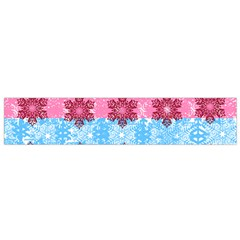 Pink Snowflakes Pattern Flano Scarf (small) by Brittlevirginclothing