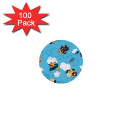 Bear Aircraft 1  Mini Buttons (100 Pack)  by AnjaniArt