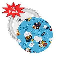 Bear Aircraft 2.25  Buttons (10 pack)  by AnjaniArt