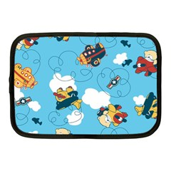 Bear Aircraft Netbook Case (Medium)  by AnjaniArt