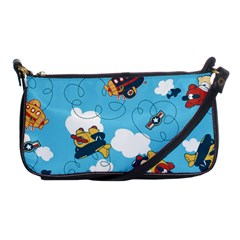 Bear Aircraft Shoulder Clutch Bags by AnjaniArt