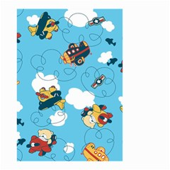 Bear Aircraft Small Garden Flag (two Sides) by AnjaniArt
