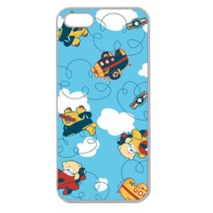 Bear Aircraft Apple Seamless Iphone 5 Case (clear) by AnjaniArt