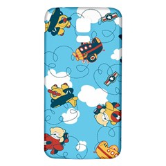 Bear Aircraft Samsung Galaxy S5 Back Case (White) by AnjaniArt
